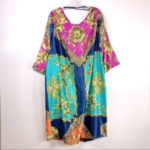Avenue Baroque Printed Midi Dress Plus Versace